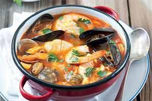 Суп из морепродуктов для похудения