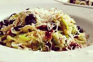 Диетические спагетти из кабачков